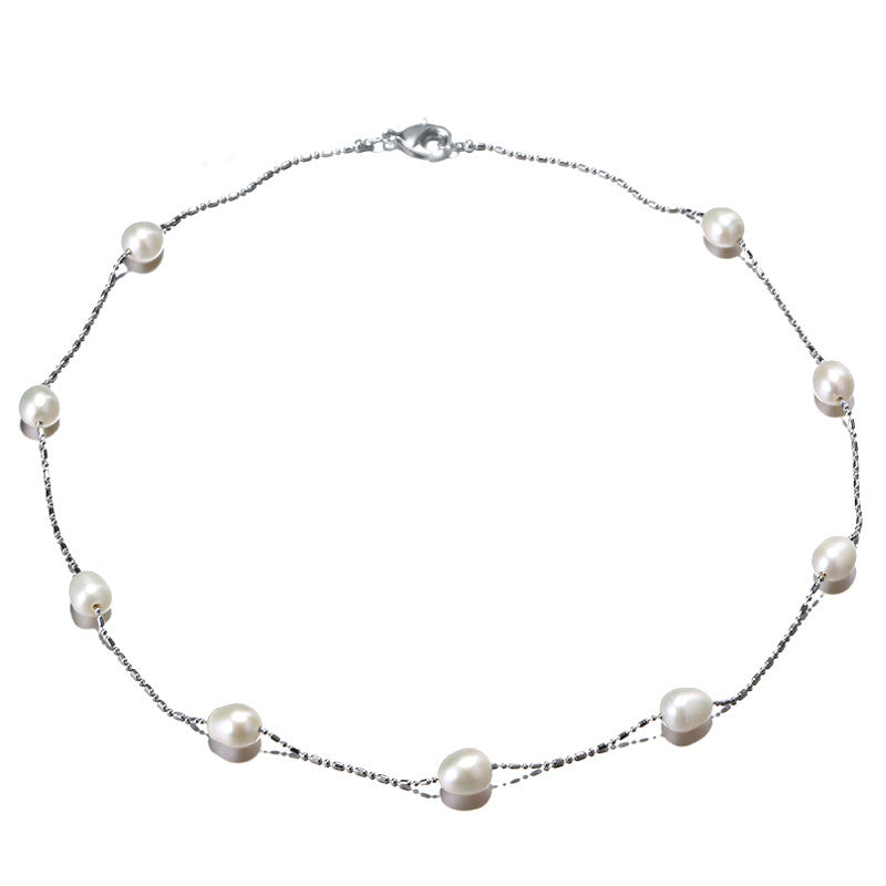 [DAIMI] Black Tin Cup necklaces, Natural Freshwater Pearl, Popular