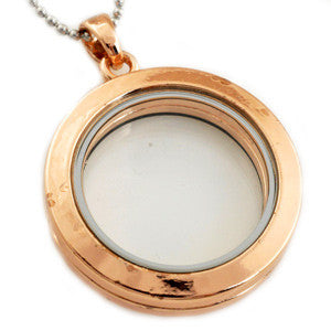 Hot wholesale Stainless Steel Necklace 30mm Round Magnetic Glass