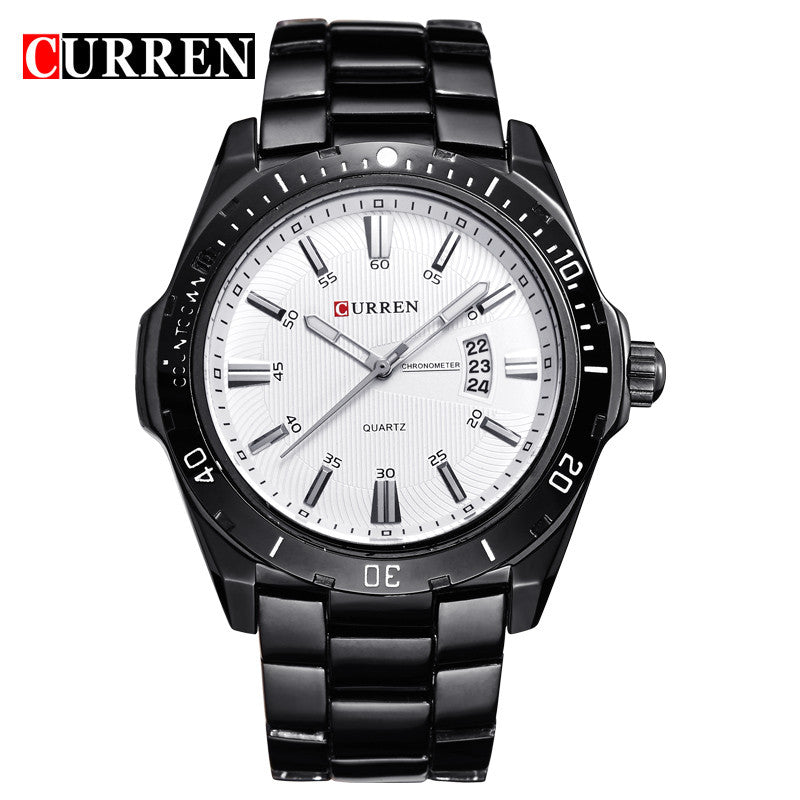 Curren 8110 Luxury Brand Men Watch Full Steel Business Quartz-Watch