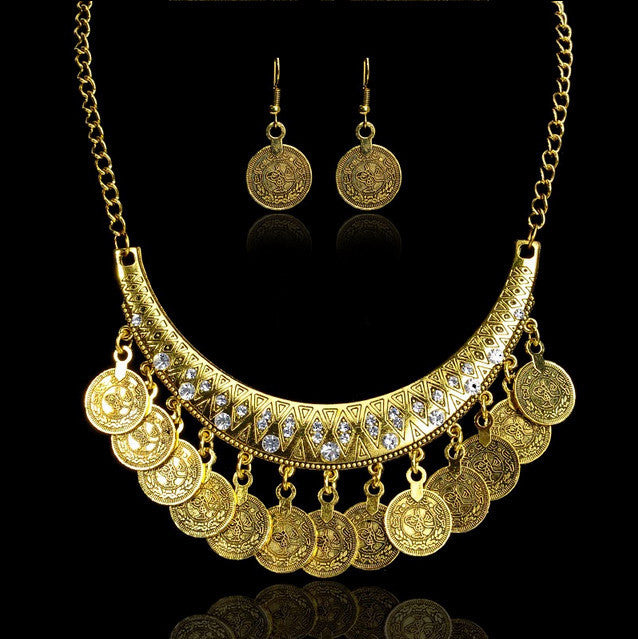 Hot Sale Bohemian Vintage Chokers Necklaces Fashion Ethnic Carved