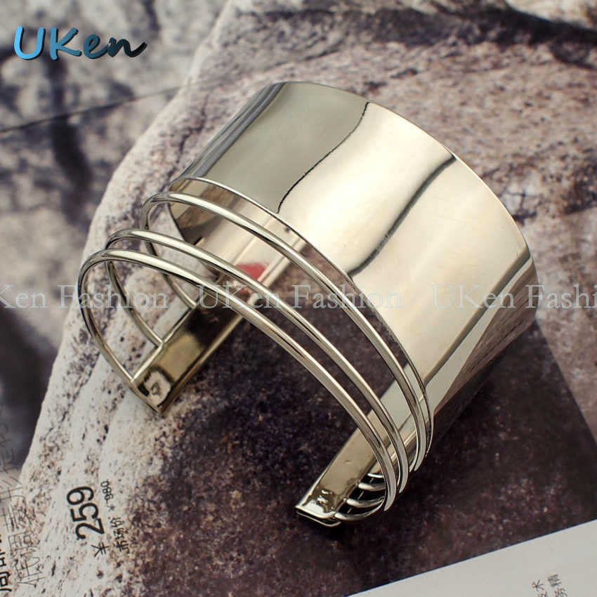 Danfosi 2016 Graceful Women Cuff Bangles Opened Alloy Bracelets
