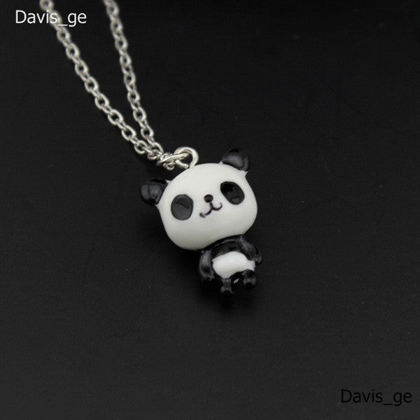 "[$5 Minimum] 2016 New Fashion Jewelry Cute Panda Pendant 16"" Short"