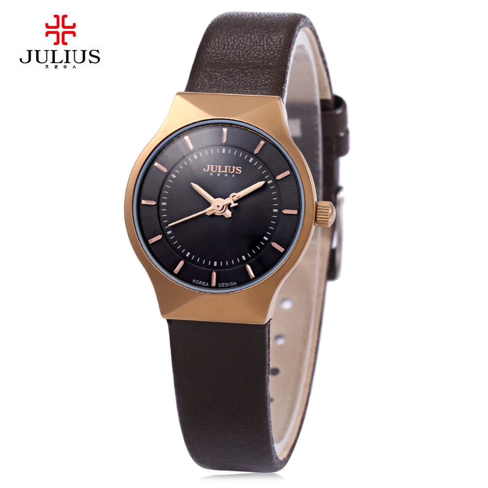 Top Brand Julius Women Watches Ultra Thin Stainless Steel Band