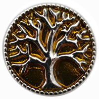 D00158 Wholesale 6pcslot Oil Painting Tree Of Life Metal Snap Button