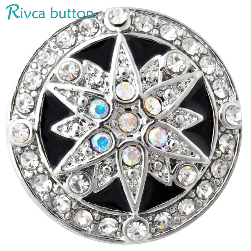 D02864 High Quality Glass items styles 18mm Metal Snap Button Charm