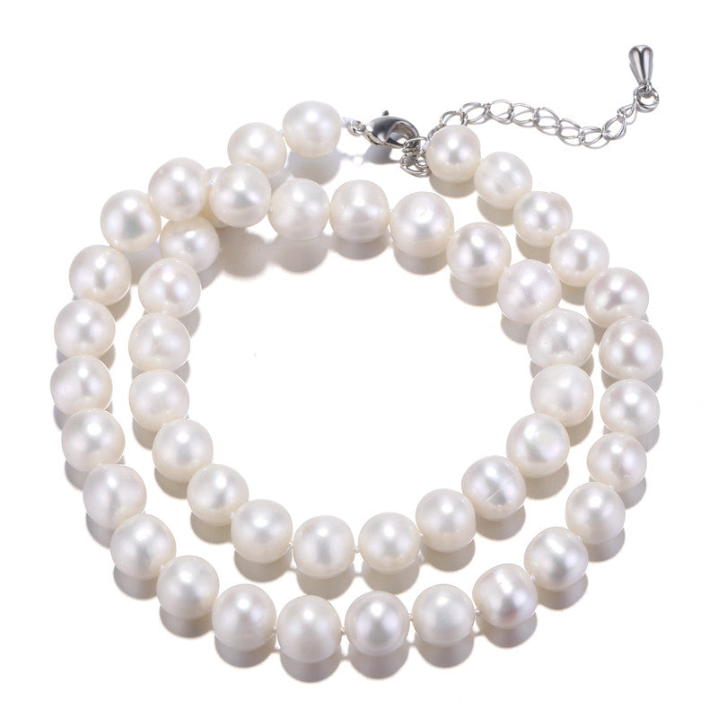 [DAIMI] Pearl Necklace 10-11mm Natural Freshwater Pearl Necklace Quite