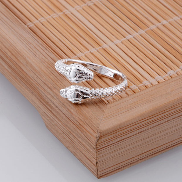 snake shiny light  Wholesale 925-sterling-silver ring 925 Fashion