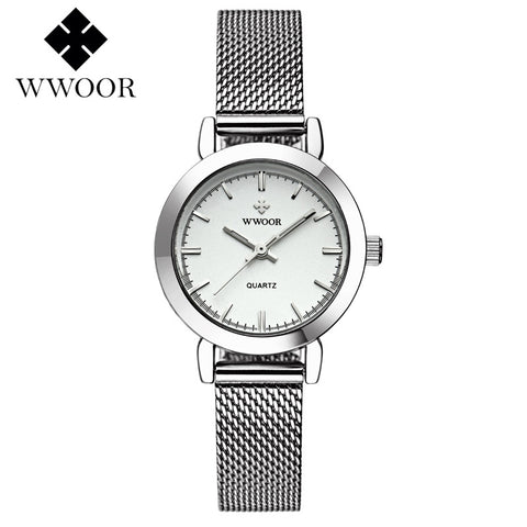 WWOOR Women's Watch Ultra Thin Stainless Steel Quartz Watch Lady