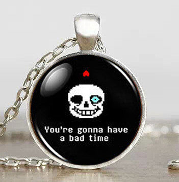 Undertale Sans Bad Time Game Gaming Handmade Fashion Necklace brass