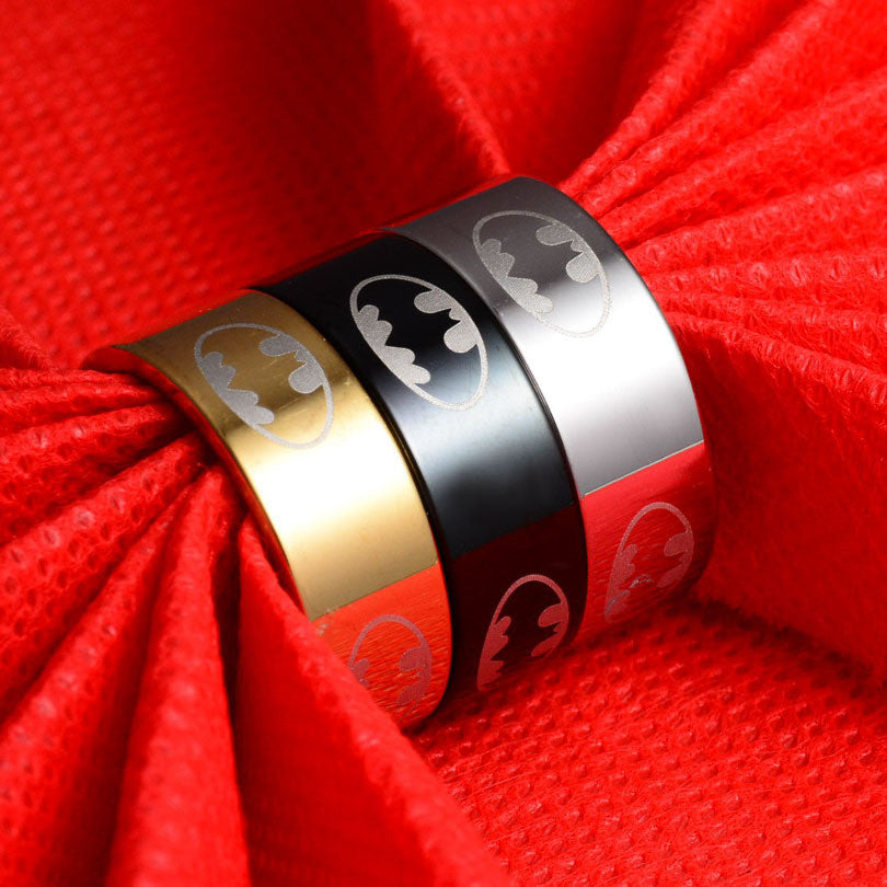 New Arrival 316l Stainless Steel Batman Rings Titanium Steel Rings For