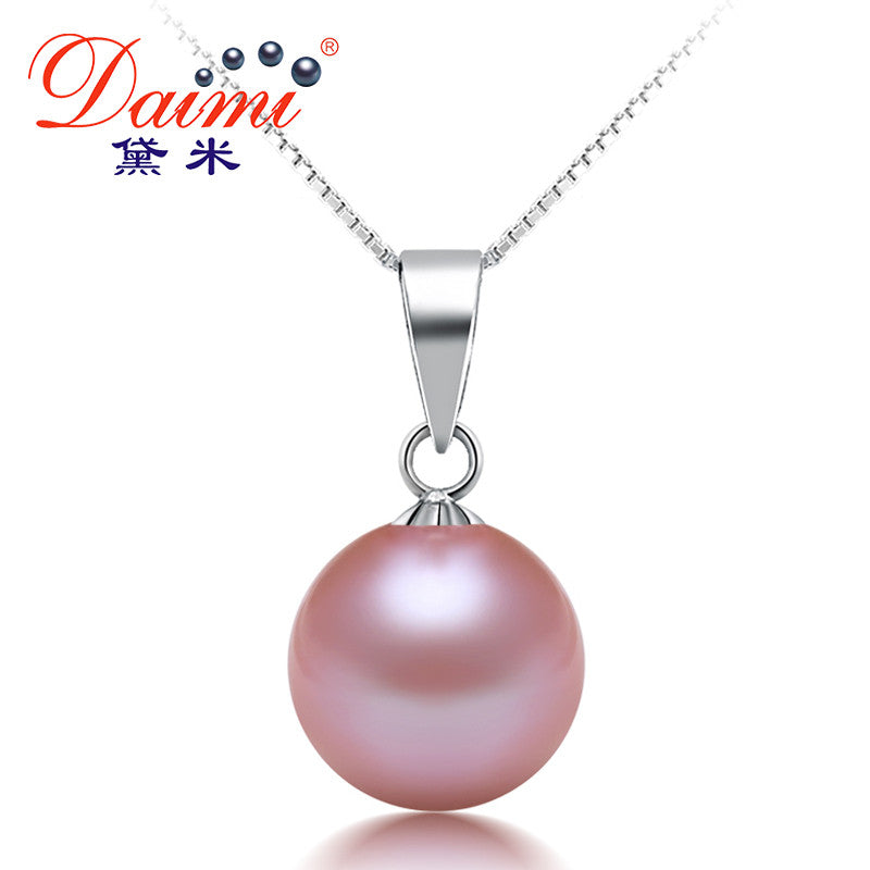 [DAIMI] Fine Jewelry 8-9mm Natural Round White /Pink /Purple