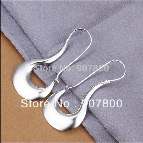 E338 factory price silver hoop earrings maw Top quality fashion jewelry for women Party Gifts