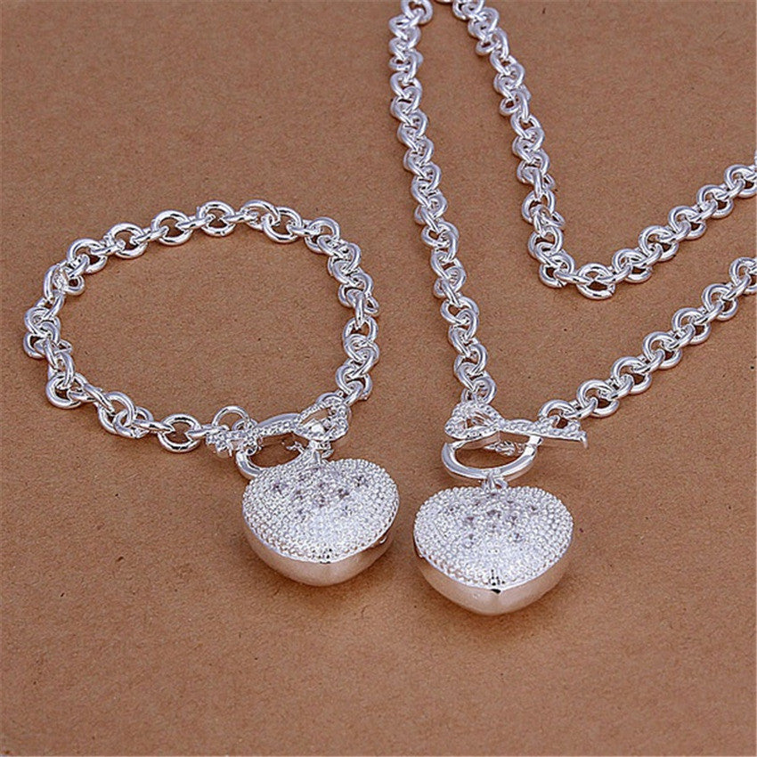 cute Christmas gift Pretty wedding  silver plated  fashion for women
