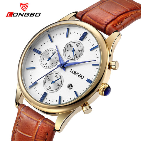 Fashion casual lovers' watch luxury crocodile leather quartz watch date calendar waterproof unisex watches casual Relogio 80061
