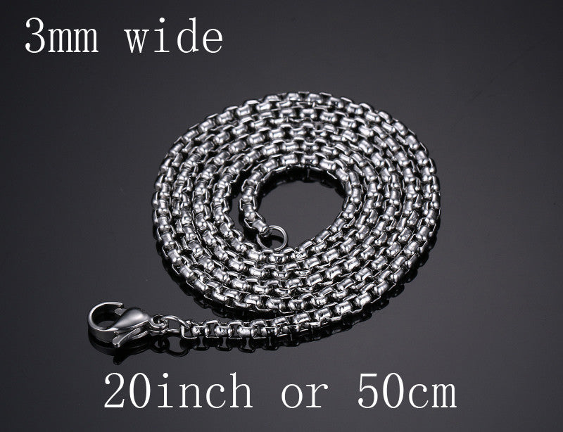 Meaeguet Fashion Stainless Steel Snake Chain 20/24inch Wholesale Chain