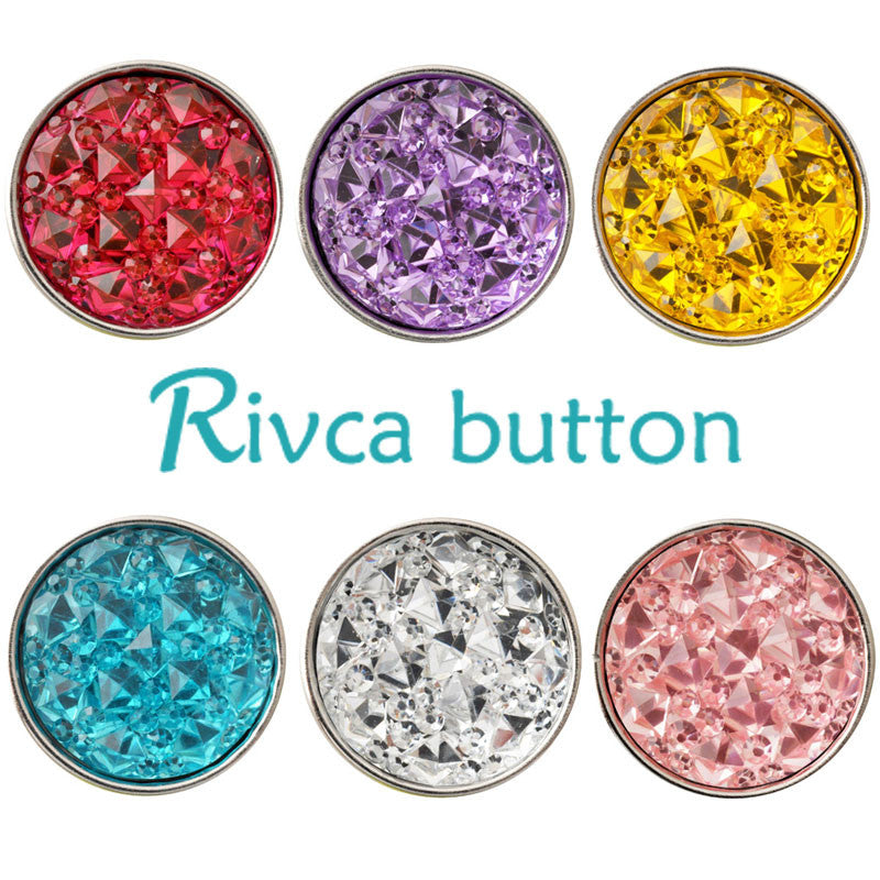 D02253 Hot Wholesale 7color Shimmer Resin 18mm Snap Button Bracelets