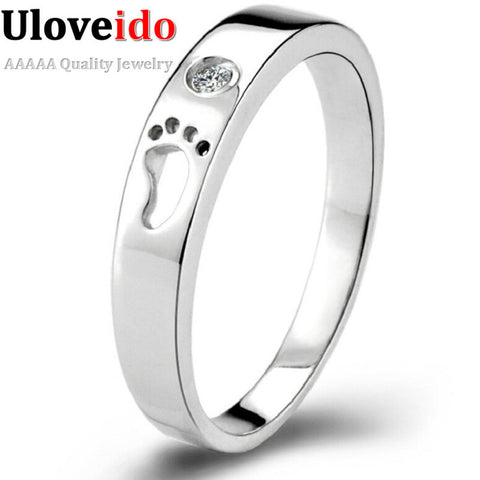 Little Feet Plated Silver Rings for Women and Men's Rings Aneis Femininos Bijoux Joias Ring Female 49% Off Charms Anelli J013