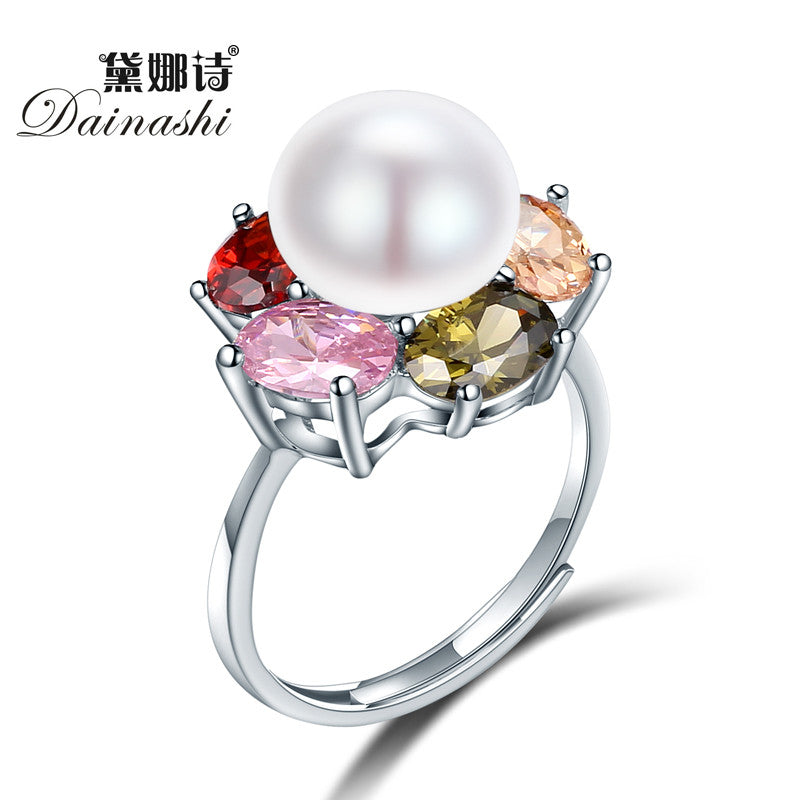 Dainashi Beautiful Design 925 sterling silver Austrian Crystal Ring