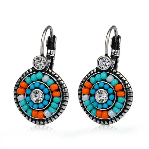 Pendientes Etnicos 2016 Bohemia Clip Earrings Multi-color Resin
