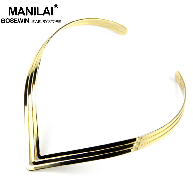 MANILAI North Africa Torques Collar Chokers Fashion 3 Layer Bright