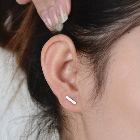 Punk Style Simple T Bar Earrings Stud Earrings Punk Ear Jewelry Rock Gothic Unisex Ear Stud Fine Jewelry Free shipping