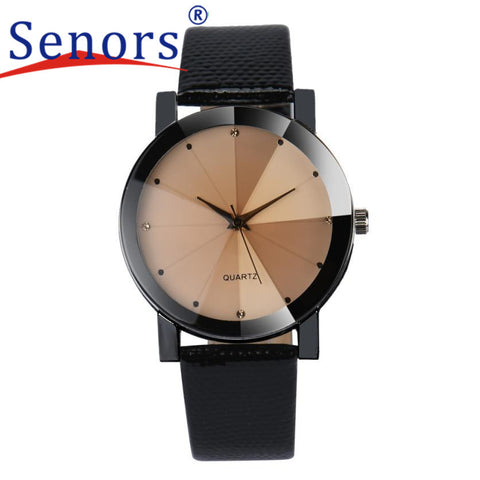 Essential Wristwatch Bangle Bracelet Watches Women Luxury Quartz Sport Military Stainless Steel Dial Leather Band Sep29
