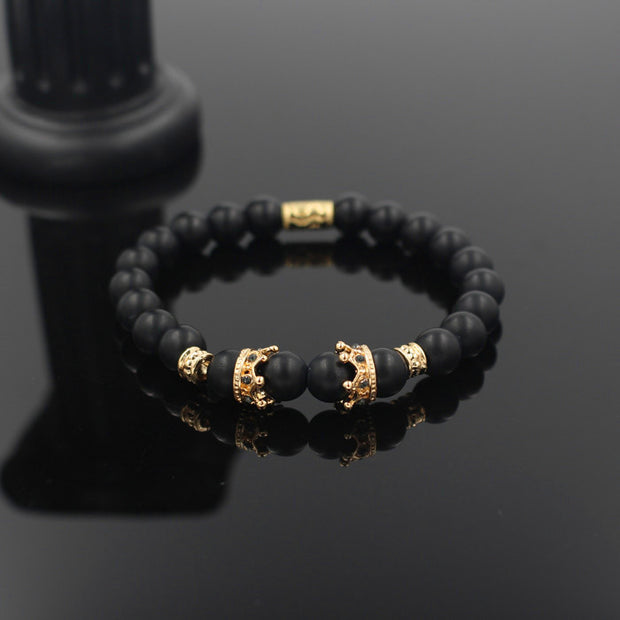 New Fashion Matte Onyx Stone Bead Bracelet For Men Popular Boys