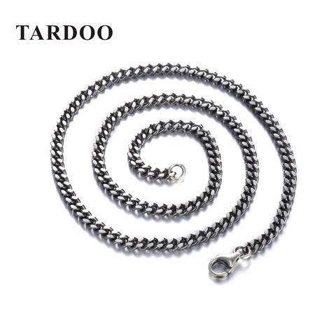 TARDOO Punk Style Classic Silver Chain Necklace for Women & Men 925 Sterling Silver Choker Necklace Fine Jewelry Around His Neck