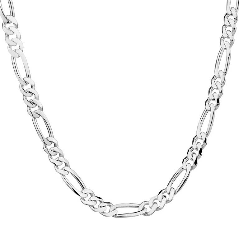 Free Shipping 1pc silver Figaro Chain Necklace 16-30inch 2mm Fine