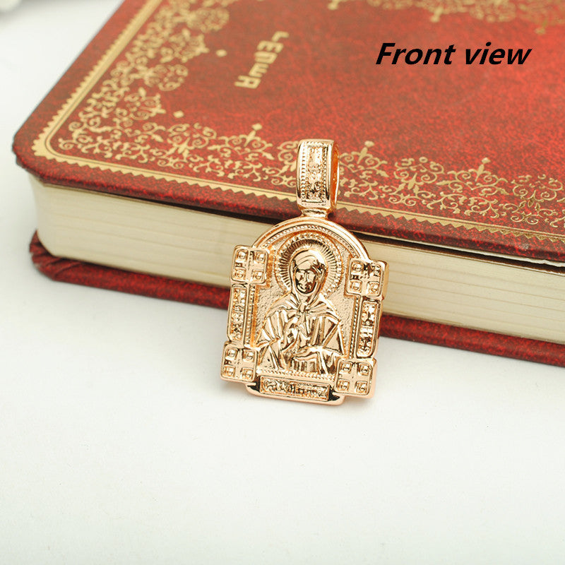 Classic 2016 Rose Gold Cross Jewelry Gold 585 Orthodox Cross Pendant