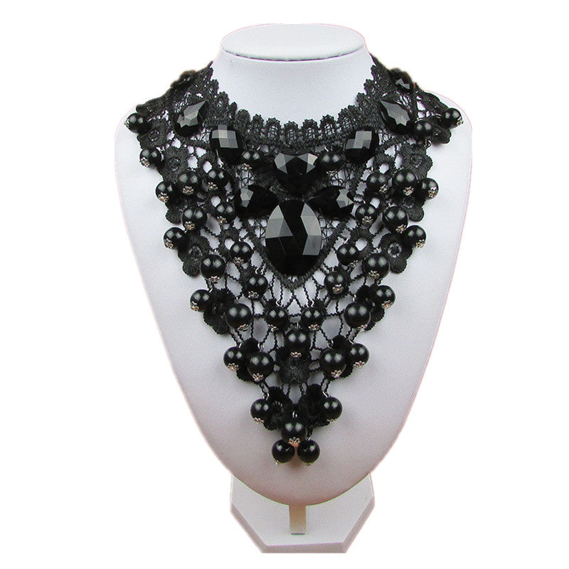 N637 2017 Female Jewelry Black Lace Necklaces & Pendants Short