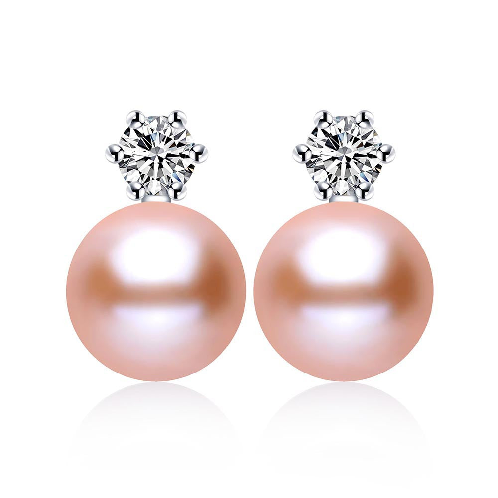 Classic Princess Earrings 100% real freshwater pearl earrings for