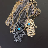 Classic The hand of Fatima hamsa Necklace jewelry Pendants Metal Chain