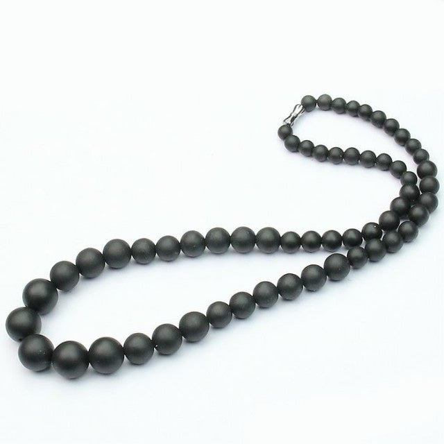 High Quality Black Bianshi Jade Banichi Natural Black Stone Necklace