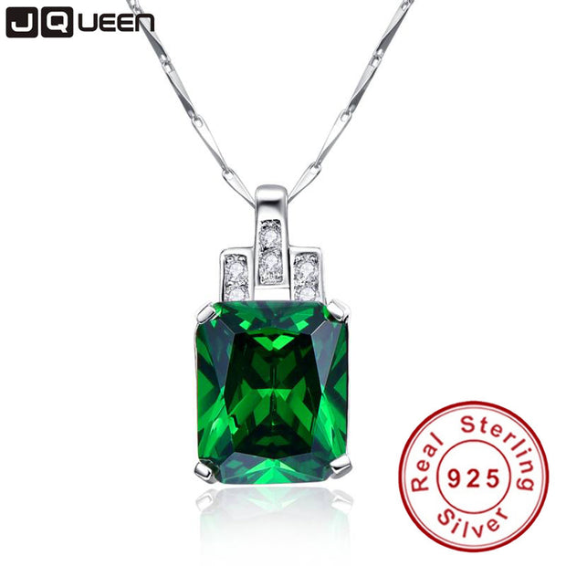 High Quality Emerald Necklace Jewelry 6.95ct Pendant Necklace