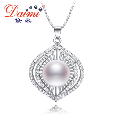 DAIMI 12-13mm Natural White Pearl Luxulry Pendant Huge Pearl New Style Freshwater Pearl Pendant Necklace