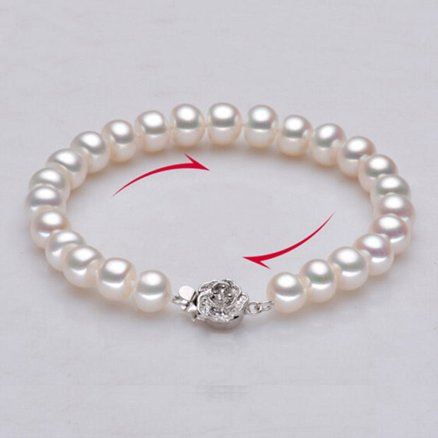 Sinya pearl strand bracelets for women with high luster natural