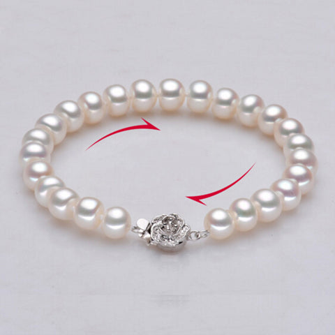 Sinya pearl strand bracelets for women with high luster natural freshwater pearl 9-10mm hot sale fine pearl jewelry