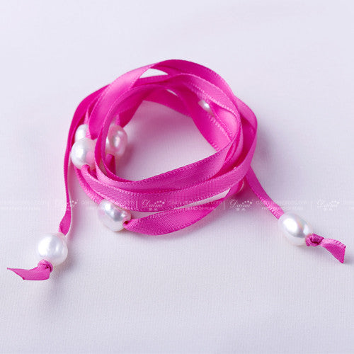 Daimi 9-10mm Natural Baroque Pearl Bracelet 100cm DIY Style White