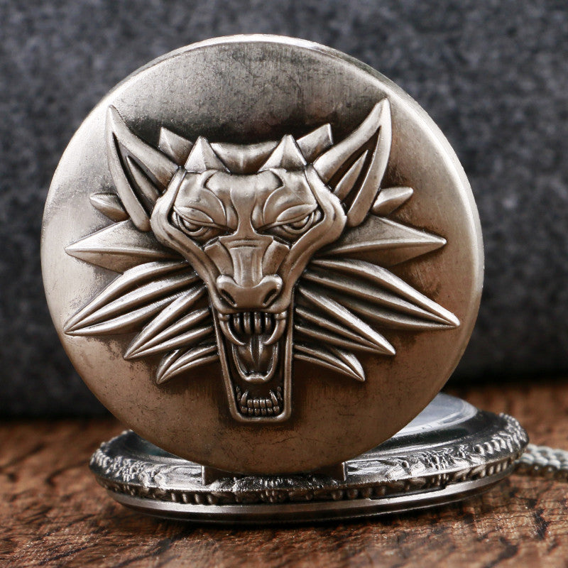 Cool Roaring Lion The Witcher Pocket Watch Vintage Antique Fob Watch
