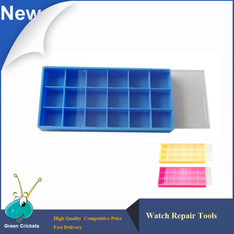 Free Shipping 3pcs/lot Colorful Watch Parts Storage Box, watchmaker repairing tools Small Watch parts storage tray with lid