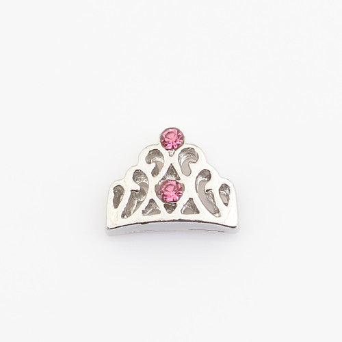 crown, Floating locket charms,Fit floating charm lockets, FC1039