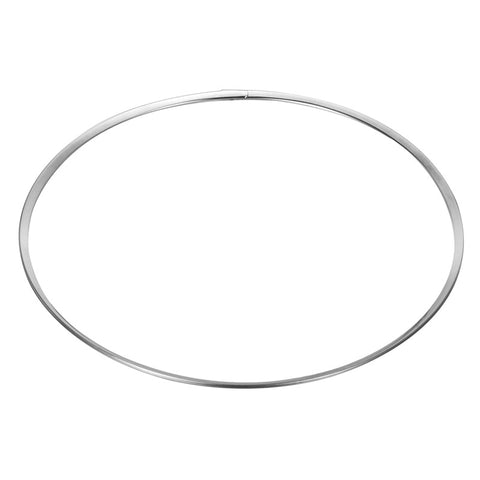 FUNIQUE New Women Stainless Steel Silver Tone Plain European Necklace For Women Statement Choker Necklaces Around His Neck Colar