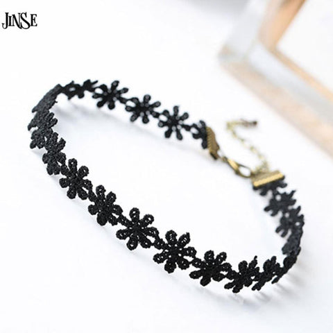 JINSE Fashion Choker Necklaces For Women Fashion Laciness Polyster Statement Necklaces Collares Love Necklaces BLS206