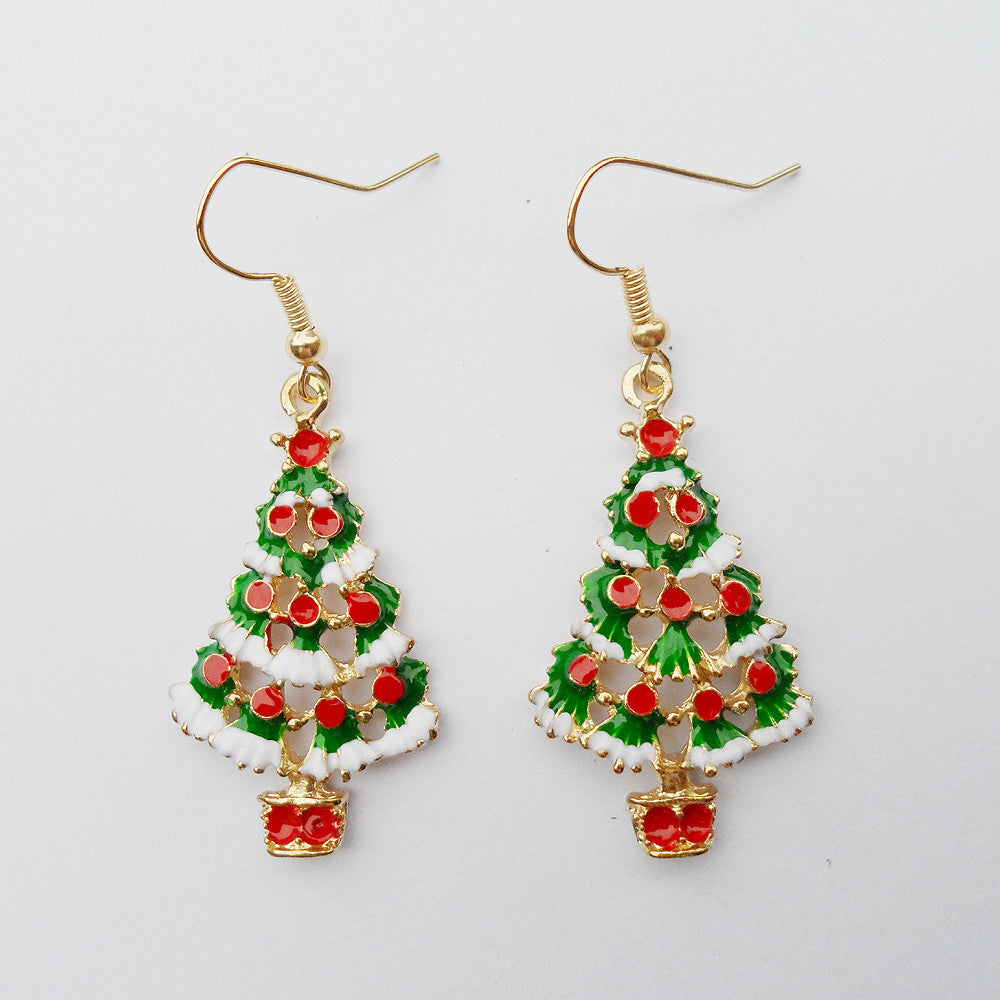 {2016 Celebrating Christmas,  new women's Christmas earrings