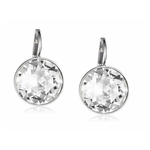 Clear Crystal from Swarovski White Gold Plated Earrings Bella Pierced Drop Dangle Earrings For Women