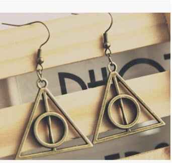 Earrings Vintage Deathly Hallows Triangle Women Drop Earrings Cheap