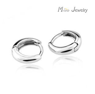 Wholesale Plata 925 Sterling Silver Jewelry Clip Earrings Women Pure