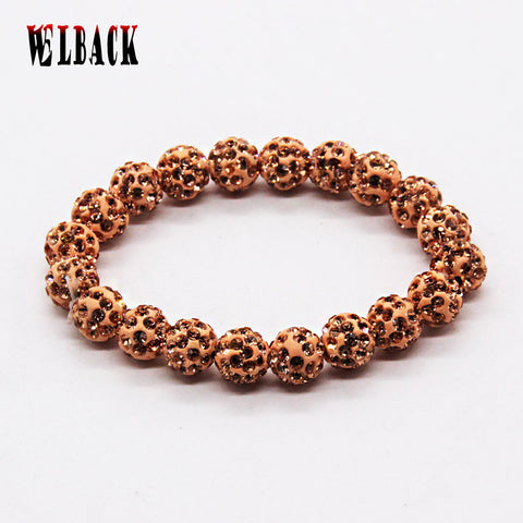 Fashion classic Shambhala jewelry For Women Handmade clay shangrila Bracelet (20 balls) beaded strand bracelet