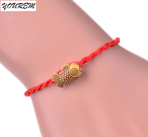 one piece bell heart national lucky red rope bracelet for women men fashion beads strand bracelets unisex jewelry fj126